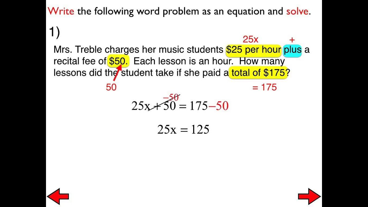 worksheet Multi Step Word Problems 21 word problems involving multi step equations youtube equations