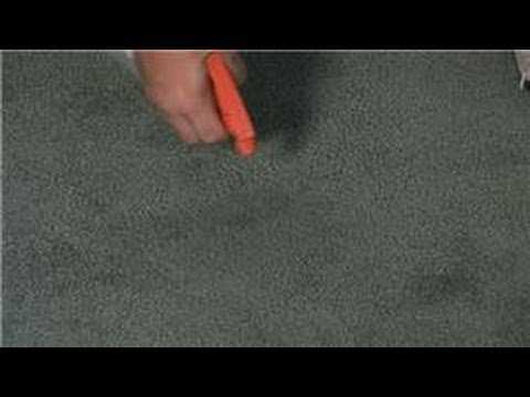 Carpet Cleaning : How to Remove Brown Water Stains on a Carpet