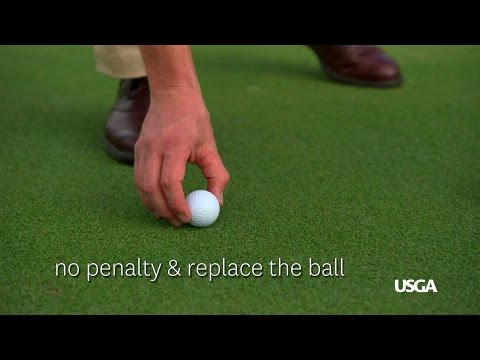 Local Rule: Accidental Movement of a Ball on the Putting Green