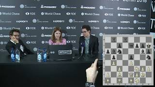 Round 13. Press conference with Caruana and Aronian