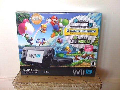 Nintendo Wii U Mario and Luigi 32GB...