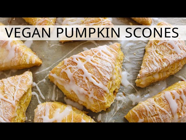 VEGAN PUMPKIN SCONES - Vegan Fall Dessert Recipe