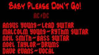 AC/DC with Dave Evans Baby Please Don't Go First Recorded Gig Live '74 Rare