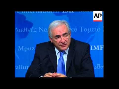 IMF chief Dominique Strauss-Kahn on Greece