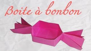 Origami ! Boîte en forme de bonbon