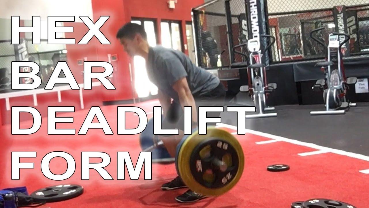 Hex Bar Deadlift Form - YouTube