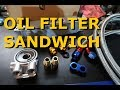 Oil Filter Sandwich Adapter with Thermostat - Eclipse 2G Project