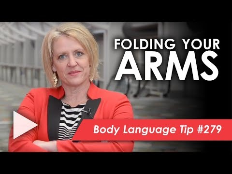 Folding your arms means..? - YouTube