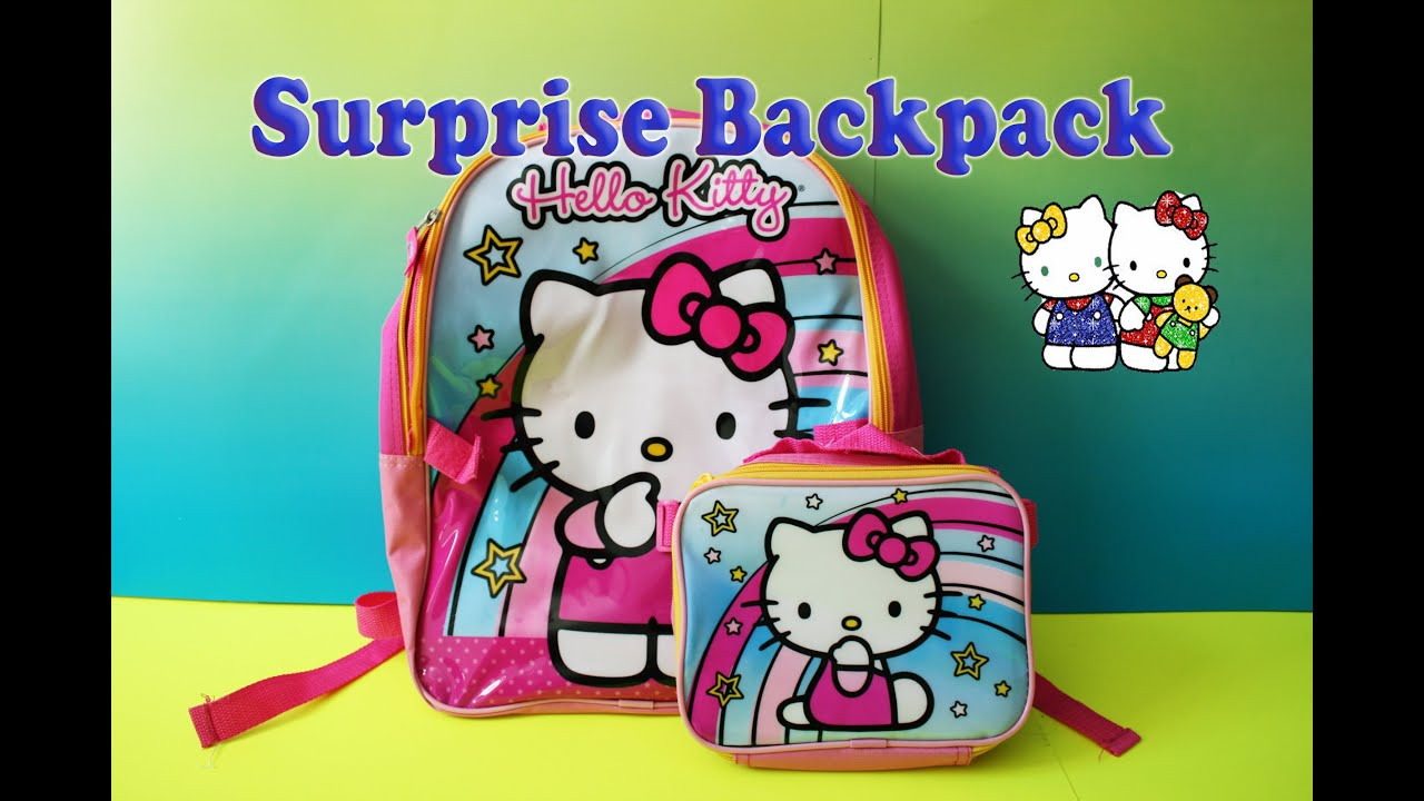 hello kitty surprise backpack back to school supplies fun