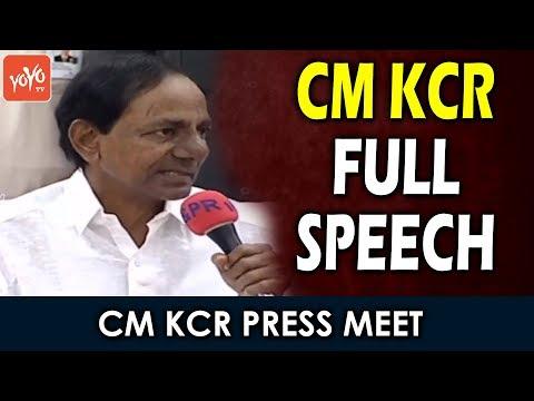 CM KCR Full Speech at  Press Meet about Telangana Employees Association | Telangana | YOYO TV