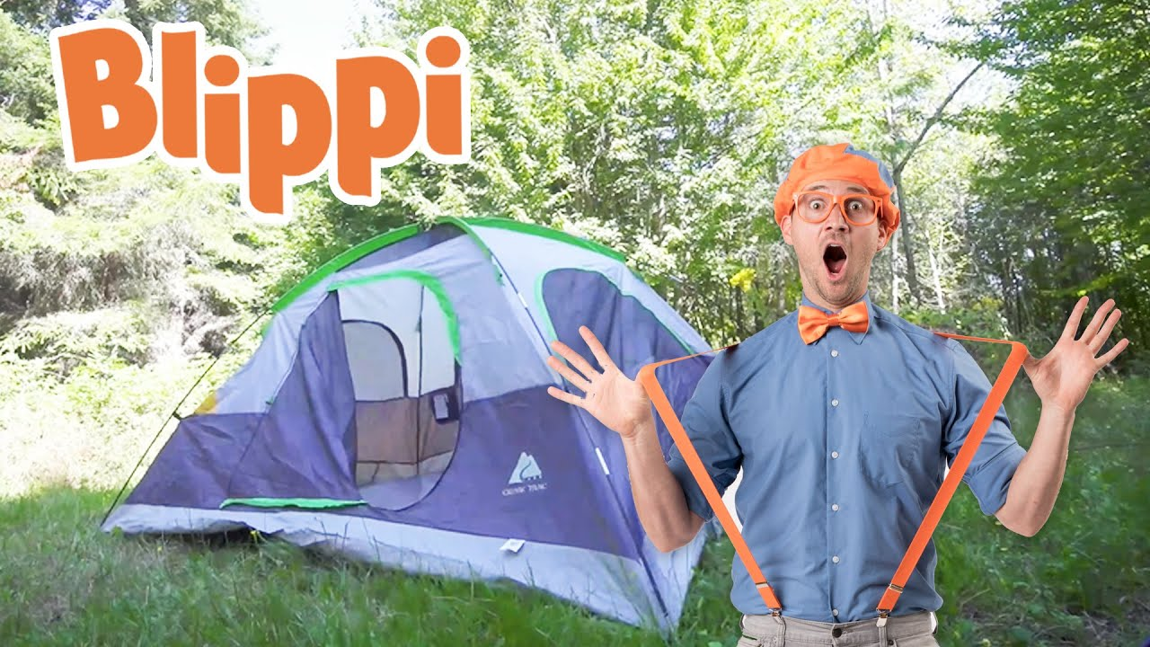 Blippi Goes On A Camping Trip | Outdoor Activities For Kids