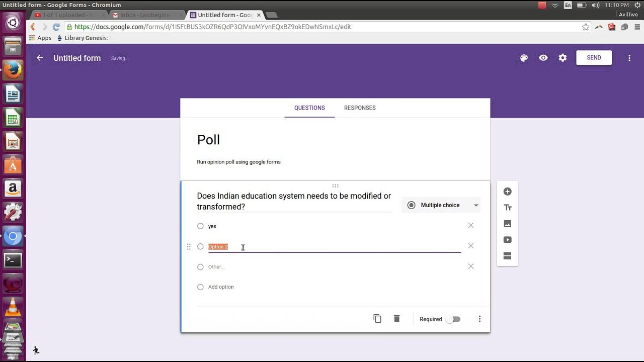 How to run opinion poll with google forms - YouTube