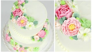 Buttercream Flower Wedding Cake Tutorial - CAKE STYLE