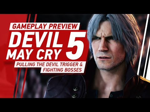 Devil May Cry 5 Gameplay - Pulling The Devil Trigger and Battling Bosses thumbnail