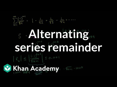 Worked example: alternating series remainder | Series | AP C