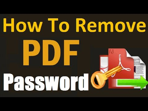 Unlock PDF Files - How To Remove PDF Files Password