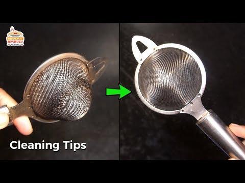 బాగా మురికి పట్టిన టీ జాలి ని సులభంగా శుభ్రం చేసుకునే విధానము | Tea Strainer Cleaning | Kitchen Tips