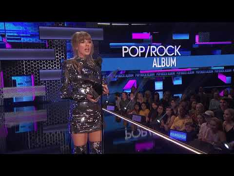 Taylor Swifts Reputation Wins Favorite  - PopRock - AMAs 2018
