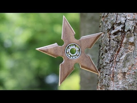 How to make Shuriken Fidget Spinner (Wooden Ninja Star) DIY