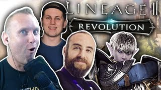 MAX LEVEL MADNESS - Lineage 2: Revolution PvP & Dungeon Gameplay w/ Bajheera & Hogmanlolz