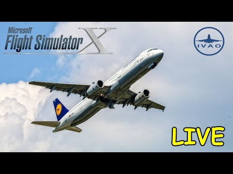 [LIVESTREAM] FSX | IVAO | Amsterdam - Frankfurt | Lufthansa Airbus A319 | Liongamer1