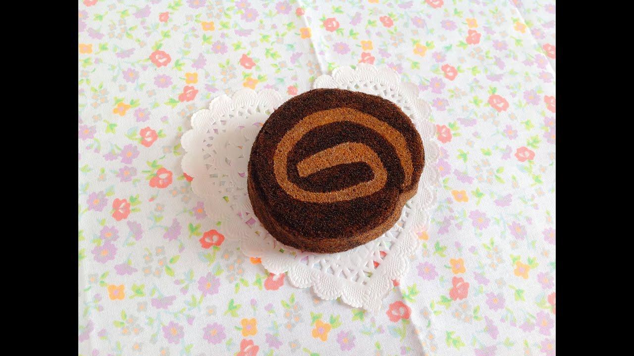 Diy Squishy Cake Roll : Squishy Tutorial: Homemade Aoyama Tokyo Choco Cake Roll ? - YouTube