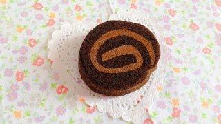 Squishy Tutorial: Homemade Aoyama Tokyo Choco Cake Roll ♡