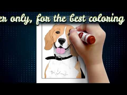 Dog Coloring Pages Book For Kids & Adults V1 Dogs Colouring Books
