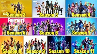 RANKING EVERY 'BATTLE PASS BY SKIN' FROM WORST TO BEST! (Season 2-11) | Fortnite Battle Royale!