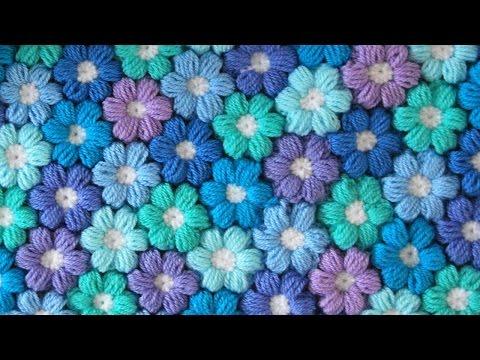 Tutorial uncinetto - Fiore tridimensionale (punto nocciolina)