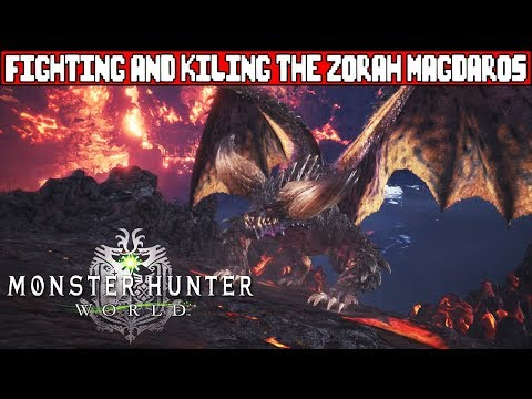 MONSTER HUNTER WORLD Zorah Magdaros Elder Dragon Boss Fight