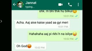 Jannat Love Chatting With Her Boyfriend On WhatsApp, Romantic Love Story