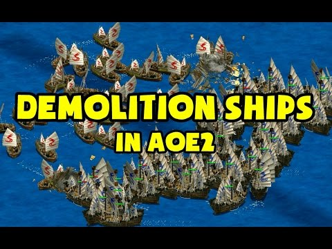 Demolition Ships in AoE2