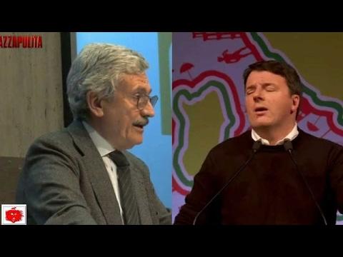 D'Alema e Renzi lo scontro verbale a distanza con spettatore Bersani