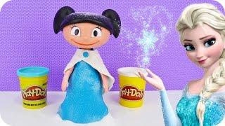 O Show da Luna com Vestido da Frozen Elsa de Massinha Play-Doh Portugues - Turma kids