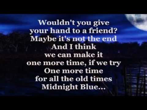 Midnight blue with lyrics by ELO - YouTube