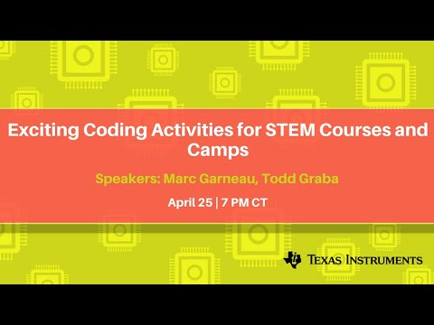 Webinar: Exciting Coding Activities for STEM Courses and Camps