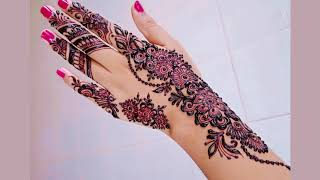 Upper Hand Mehndi Design for Special Occation and Party   Shimmi