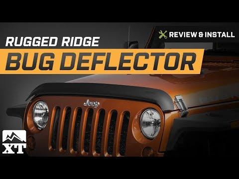 Jeep Wrangler Rugged Ridge Bug Deflector 2007 2017 Jk