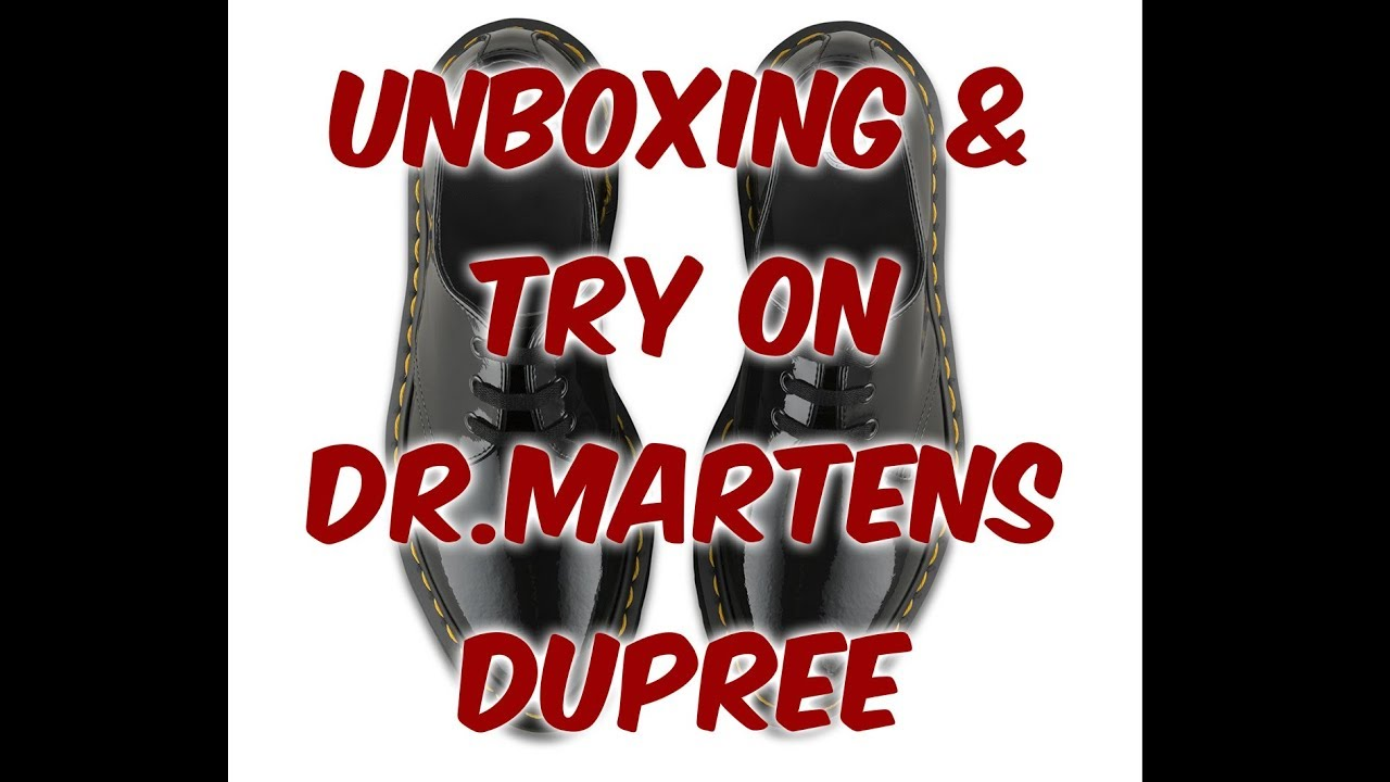 f10e4adec97 Dr Martens dupree black patent lamper woman Unboxing and try on ! About Life