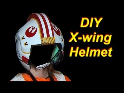Diy Luke Skywalker Costume X Wing Pilot Helmet