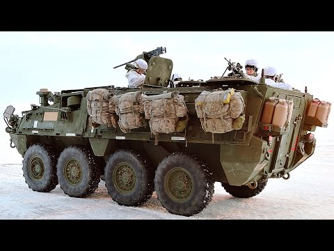 US Soldiers & Stryker Vehicles In The Ball Freezing Arctic Circle