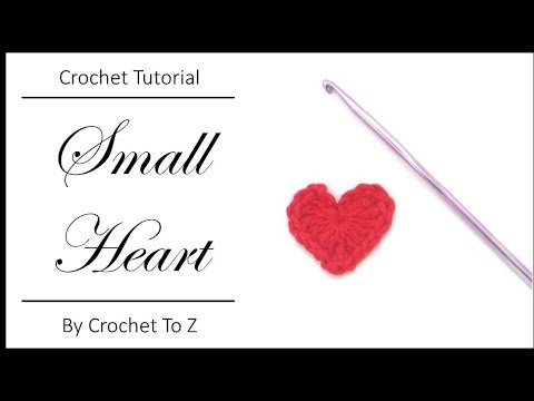 Crochet Tutorial - Easy Small Heart Applique - YouTube