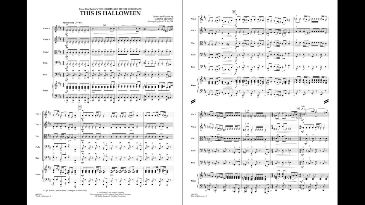 This Is Halloween by Danny Elfman/arr. James Kazik - YouTube