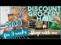Discount grocery haul & shop with me | $100 for 3 weeks | Eat well for less
