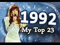 Eurovision Song Contest 1992 - My Top 23 [HD w/ Subbed Commentary]