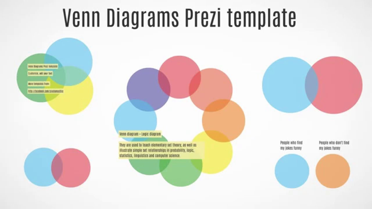 venn diagrams infographics prezi template - youtube, Powerpoint templates