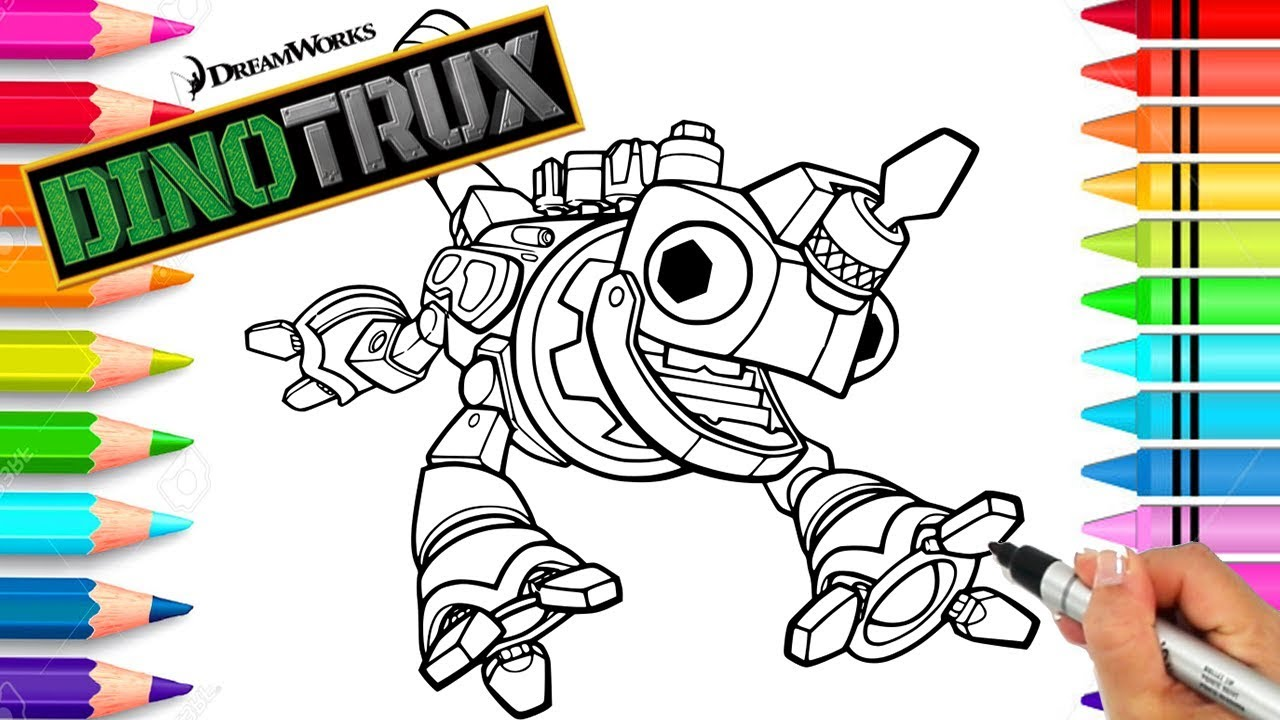 Revvit Dinotrux Coloring Page Dinotrux Coloring Book Printable