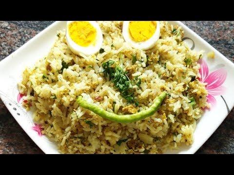 Egg rice recipe in kannada/ quick & easy egg rice recipe/lunch box recipe