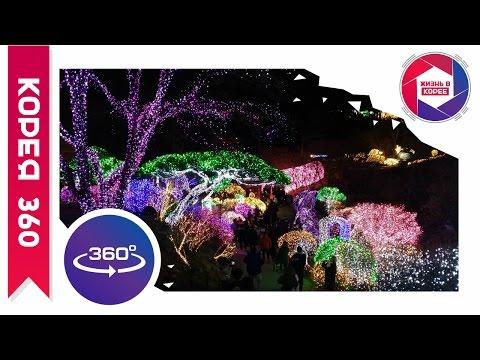 Световое шоу в Саду Утреннего Спокойствия 360